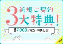 初月0円でお水ボトルがついてくるキャンペーン